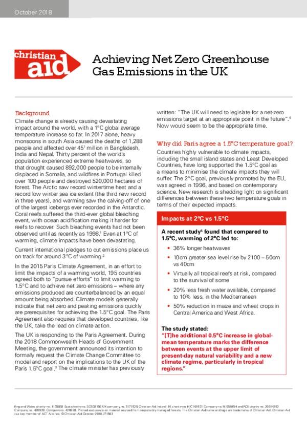 Net Zero emissions in a UK context-pdf